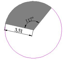 Free course of geometrical areas easycoursesportal the circular sector is the surface of the circle composed by two radii and the arch to calculate the area we simply need two pieces of information ccuart Images