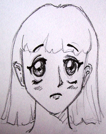 how to draw sad mouth